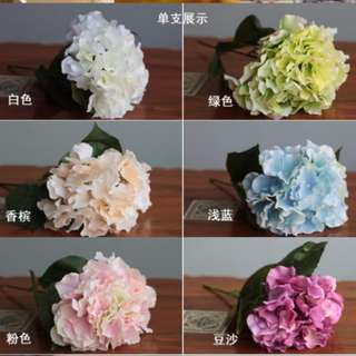 Fake flowers for wedding deco