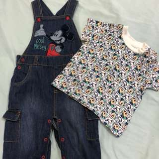 Mickey Mouse Jumper & shirt set