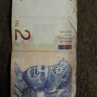 Wang kertas RM 2 lama