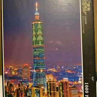 台北夜景螢光拼圖