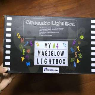MagiGlow A4 Cinema Light Box: Enhanced Cinematic Letter Box with Storage And 8hr Power Timer