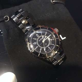 超美Chanel J12 黑色陶瓷手錶 34mm
