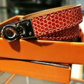Hermes Lizard Kelly Double Tour Bracelet