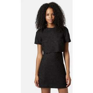 TOPSHOP | Scallop Lace Overlay Dress