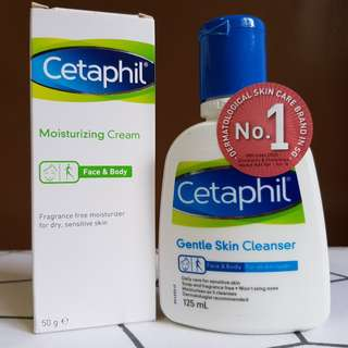 Brand new: Cetaphil skin cleanser and moisturizing cream