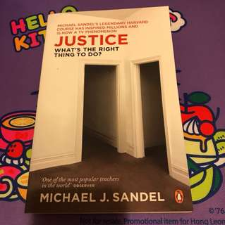 Justice What's the right thing to do Michael J. Sandel