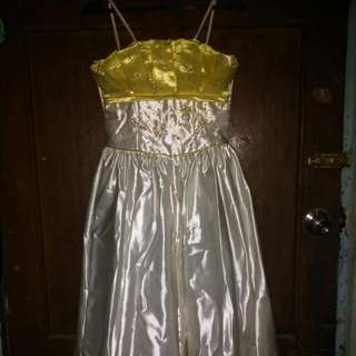 150(repriced)Yellow & White Gown