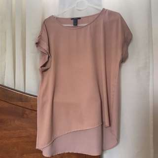 Forever21 Pastel Pink Chiffon Blouse
