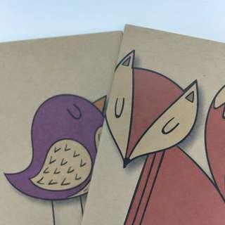 [INSTOCK] Fox and Bird Notebook Set