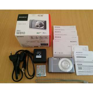 Kamera Digital Sony W810 20MP Fullset