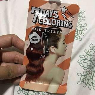 Missha 7 days colouring hair treatment - red orange