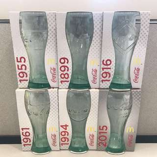 McDonalds x Coca Cola 玻璃杯 1899-2015 系列(一套六隻)