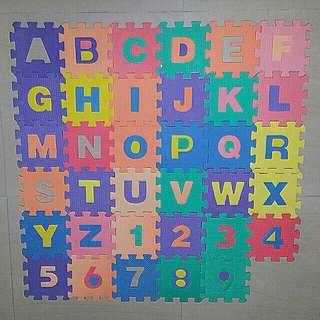 Foam Floor Alphabet and Number Puzzle Mat