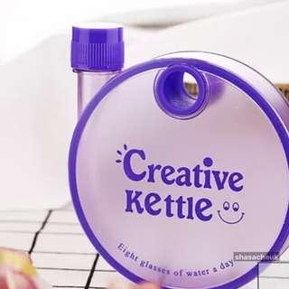 磨砂扁平紙片塑膠水樽 紙張水瓶 水杯 -  紫色 Matte Memo Bottle / Flat Plastic Water Bottles / MemoBottles / Reusable Water Bottles / Cups / Kettle - Purple