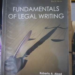 Legal Writing by Abad