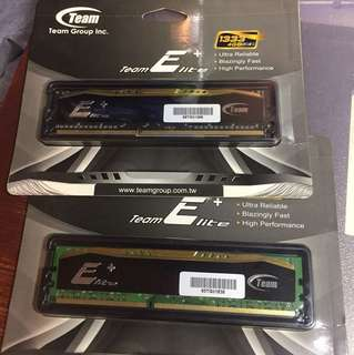 Team Elite DDR3 1333 4g 一對