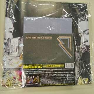 100%全新未開封 Bigbang 2012-2013 ALIVE 世界巡迴演唱會 3DVD+寫真集+珍藏記念大型海報
