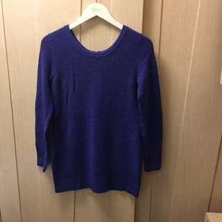 G2000 ocean blue long lattice knitted  long top/Dress 🦋