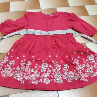 Poney Red Dress
