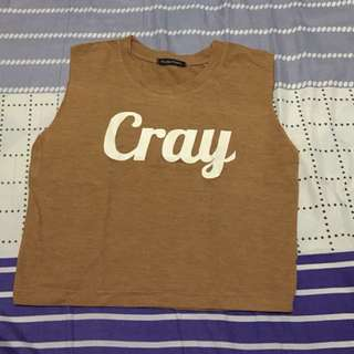 Cray crop top