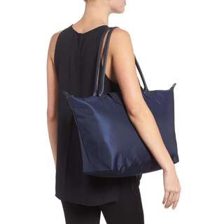 LONGCHAMP 'Large Le Pliage Neo' Nylon Tote  (NEW NAVY)