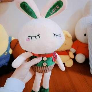 絨毛兔兔娃娃 (綠)