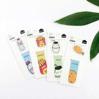 Magnetic Bookmark / Pembatas Buku Magnet Snacks, Cats, Fruits [PB01]