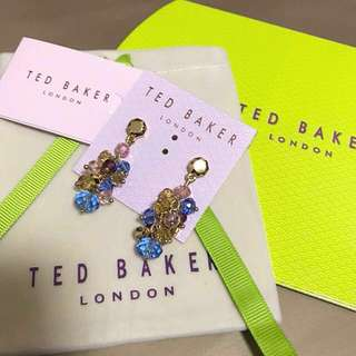(NEW) Ted Baker Faceted Glass Crystal Earrings