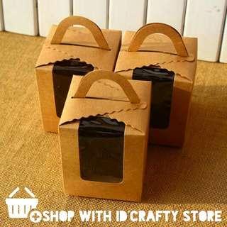 10pcs Kraft Cupcake Boxes