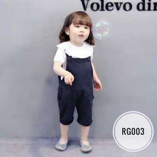 White Top & Overall RG003 Black