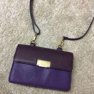 Salad purple leather bag