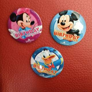 Disney 迪士尼 Happy Birthday 襟章