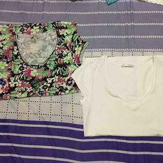 Zara Plain and floral shirt bundle
