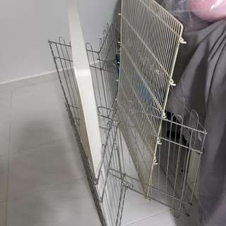 Dog playpen/ cage with tray