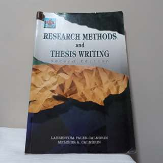 Research methods and thesis writing