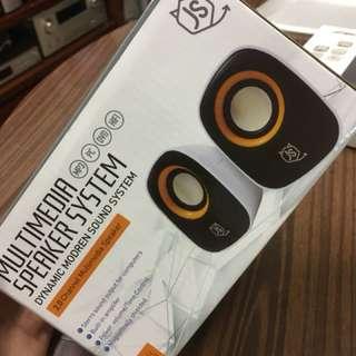 100% New Multimedia Speaker 喇叭 White x Black