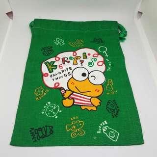 Sanrio 1993年 Keroppi 索袋 (13.5cm x 19cm)