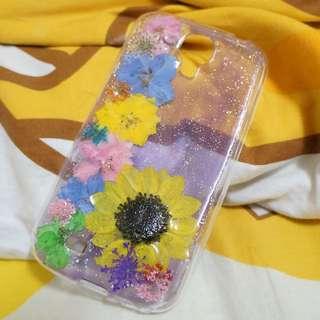 透紫底花邊🌸🌸💯自家製手機殻