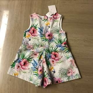 Brand New Gingersnaps Floral Romper