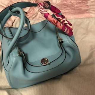 Hermes Lindy 30 Blue Atoll evercolour