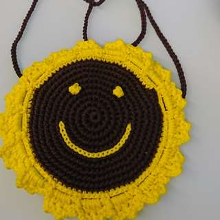 Sunflower bag with zipper