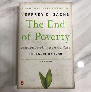Choose any 5 items for $15: The end of Poverty by Jeffrey Sachs