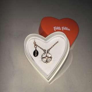 Folli Follie HEART4HEART 四葉草頸鍊 Necklaces 玫瑰金色