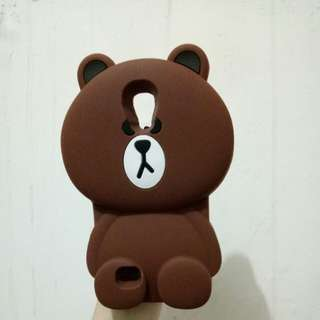 Case casing Brown Samsung S4 Line silicon hp