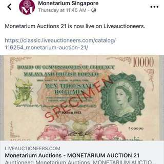 Mavin and Monetarium auctions in March