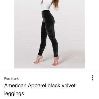 American Apparel Velvet leggings