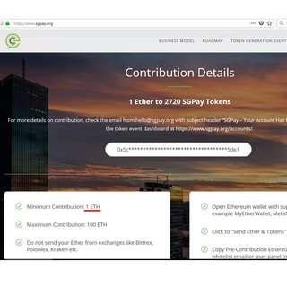 SGPay (SGP) Token [Cryptocurrency]