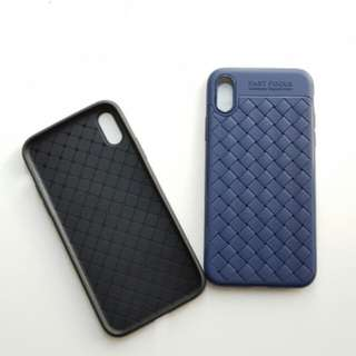 織紋軟膠包邊電話殼 iPhone X