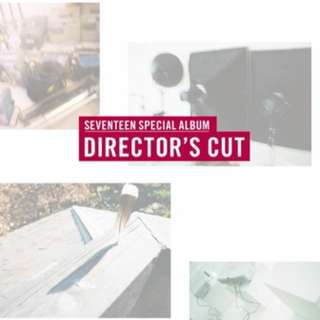 SEVENTEEN Special Album Director's Cut (Plot / Sunset Vet.) + Photobook + Postcard + Photocard + Poster + Lenticular Card + Business Card