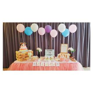 {FOR RENT/PARTY STYLIST} Pastel Dreamy Unicorn Dessert Table for baby shower, birthday